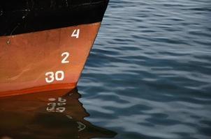 Zahlen auf einem Schiff foto