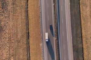 Luftaufnahme der Autobahn