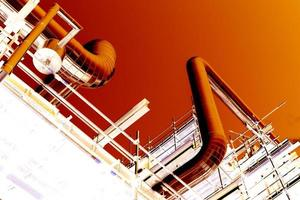 Farbnegativ für Rohrleitungsbau foto