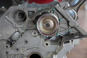 Teil des Automotors foto