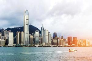 Hong Kong Blick auf Victoria Hafen foto
