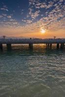 Xiamen Yanwu Brücke in der Abenddämmerung foto