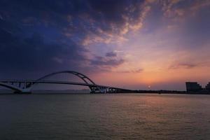Xiamen Wuyuan Brücke im Morgengrauen