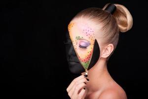 Reißverschluss Make-up foto