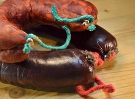 spanische Morcilla und Chorizo foto