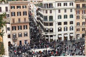 über Condotti und Piazza di Spagna foto