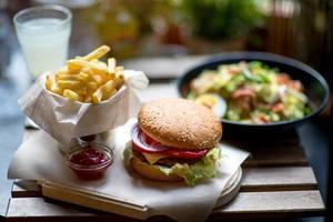 amerikanisches Mittagessen foto