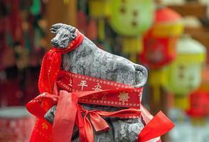 chinesischer heiliger Stier foto