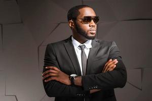 Konzept für afroamerikanischen Geschäftsmann foto