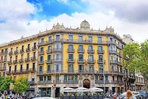 schöne Landschaft der Stadtansicht Barcelona foto