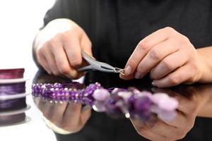 Amethyst, eine wunderschöne lila Halskette foto
