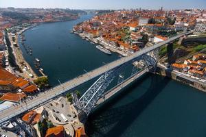 Luftaufnahme von Porto City foto