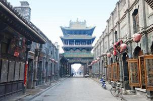 historische chinesische Stadt (Altstadt von Pingyao, China) foto