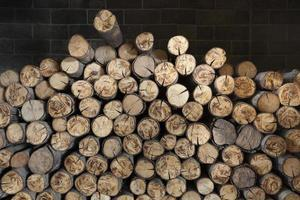 Holz im Kamin.
