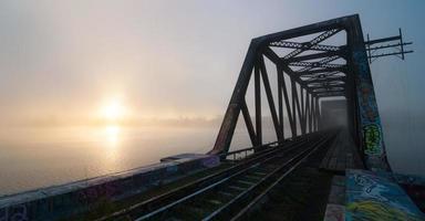 stillgelegter Prinz von Wales Bridge. foto