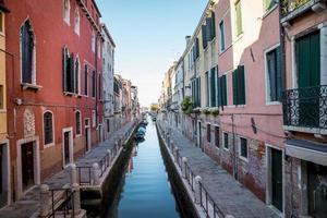 Kanal in Venedig Stadt in Italien foto