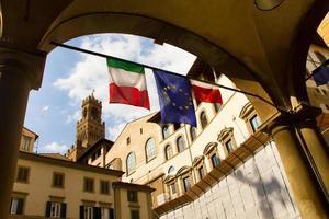 Italien Straßenszene in Florenz foto