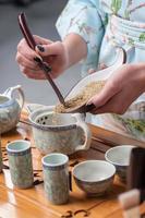 Vorbereitungen für die Teezeremonie