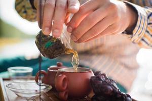 Teezeremonie im Freien foto