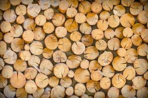 Das Schneiden von Holz ist so angeordnet, dass es die natürliche Wand ist