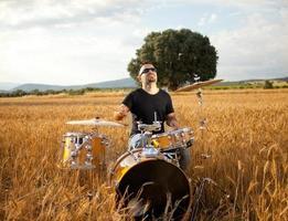 Schlagzeuger foto