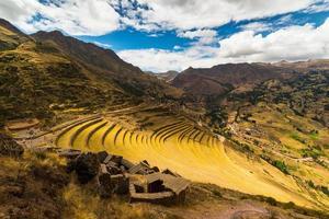 Inkas Terrassen in Pisac, heiliges Tal, Peru