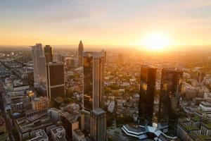 Frankfurter Skyline in Deutschland foto