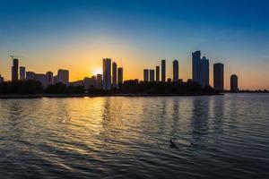 Wolkenkratzer in Sharjah City.uae. foto