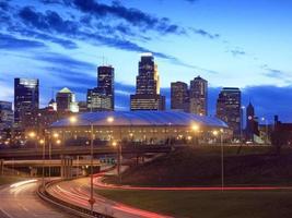 Innenstadt von Minneapolis in der Nacht