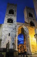 Porta Soprana in Genua, Italien foto