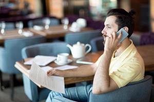 Agent im Café foto