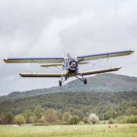 altes Retro Flugzeug. foto