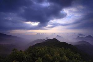 Berg Yaoshan am Morgen foto