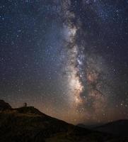 die Milchstraße und das Observatorium foto