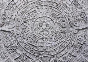aztekischer Kalender foto