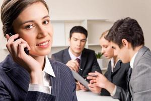 Geschäftsanruf foto