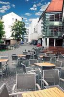 biergarten im freien in ulm, deutschland