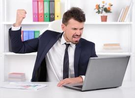 Emotionen Geschäftsmann foto