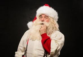 Weihnachtsmann nachdenklich foto