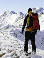 auf dem Weg zum Gipfel foto