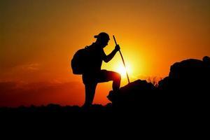 Silhouette der Freiheit und Entschlossenheit foto