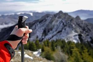 Wandern zum Gipfel foto