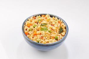 südindisches Essen Sambar Reis foto