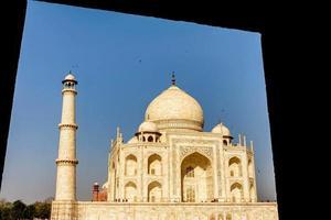 Taj Mahal, blauer Himmel, Reise nach Indien