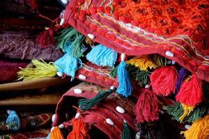 traditionelle indische Kissen foto