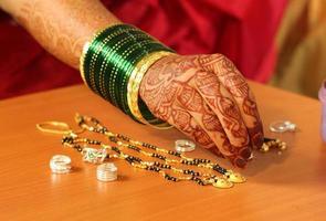 indische Hochzeit Hand foto
