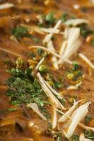 Nahaufnahmefoto des indischen Essens. foto