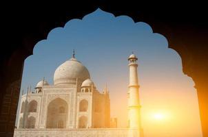 Taj Mahal Torbogen Blick foto