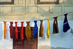 Mönchstaschen in Thailand foto