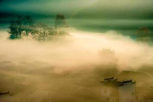 chinesisches dorfland von idyllischer schönheit foto
